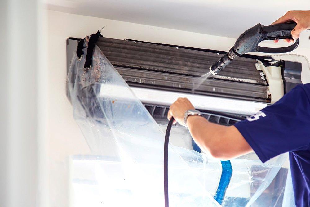 higienização e limpeza do ar condicionado